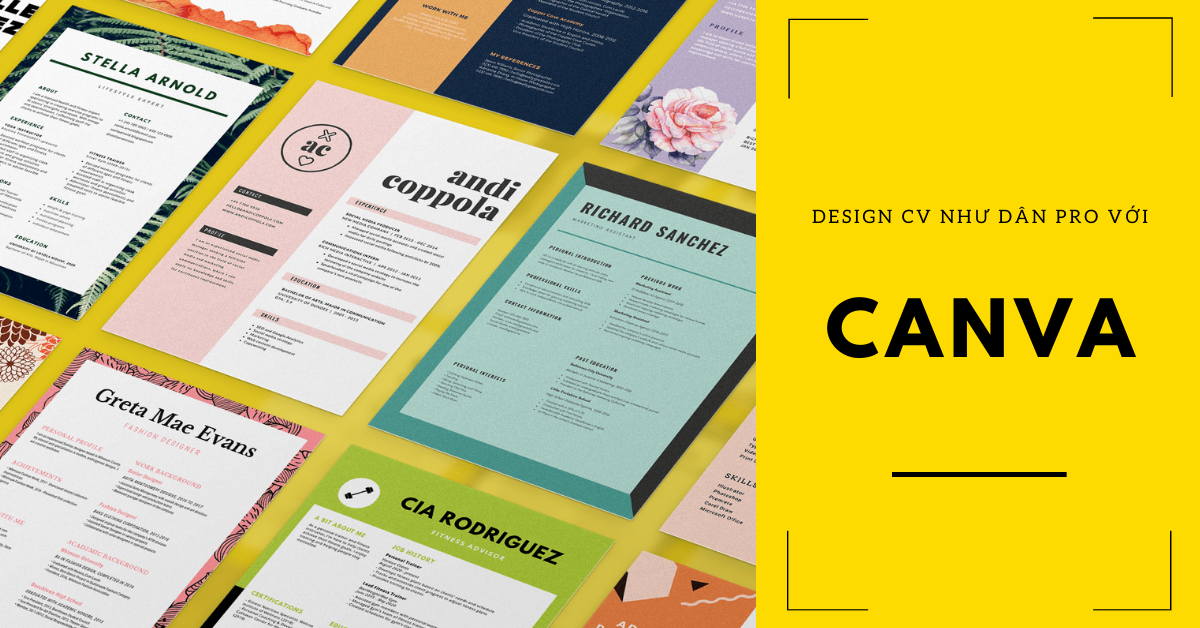 Thiết kế CV với Canva